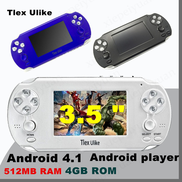 10PCS Tlex Ulike Android 512MB RAM 4GB ROM Handheld TV Game Console Bluetooth Wifi HDMI Video Support MP4 MP5 NES FC SFC MD Android player