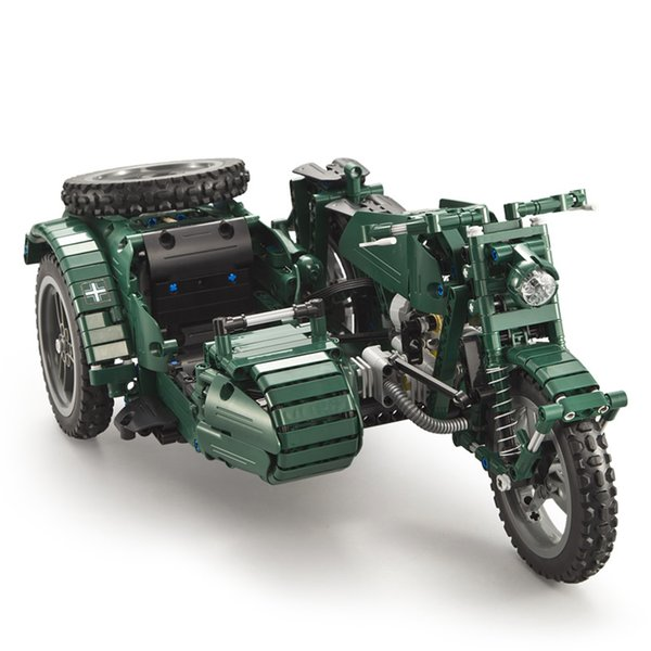 Blocks Toys & Hobbies 550pcs Military Vehicles Motorcycle Compatible Legoing Technic Electric Power Motor Us Army Motorbike Model Building Blocks Toy