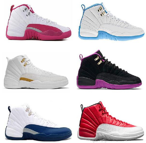 Basketball shoes 12 12s Bordeaux Dark Grey wool white Flu game UNC Gym red taxi gamma french blue Suede sneaker Sports size 7-13