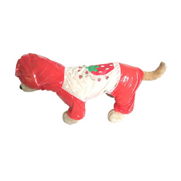 Cute carton Soft Puppy Rainwear Universal Waterproof Dog Clothes For Summer Spring Hooded Pet Rain Coat,Sun protection