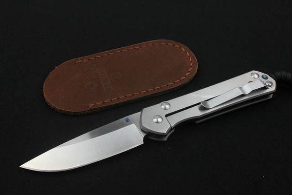 Chris Reeve Açık Katlanır Cep EDC Bıçak Büyük Sebenza D2 60-62HRC Blade Titanyum Alaşım Kolu El Aracı Noel Hediye Bıçaklar P154F