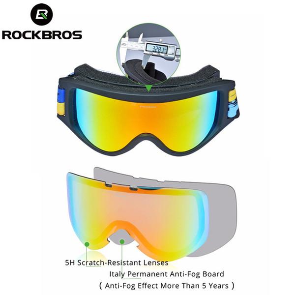 RockBros Full Frame Ski Goggles Anti-Fog Protective Winter Outdoor Glasses