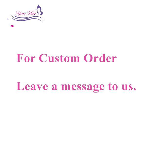 Customzied Sipariş Bağlantı İnsan Bakire Remy Saç Demetleri Anlaşma Uzantıları Dantel Kapaklar Frontal 360 Dantel Ücretsiz Kargo