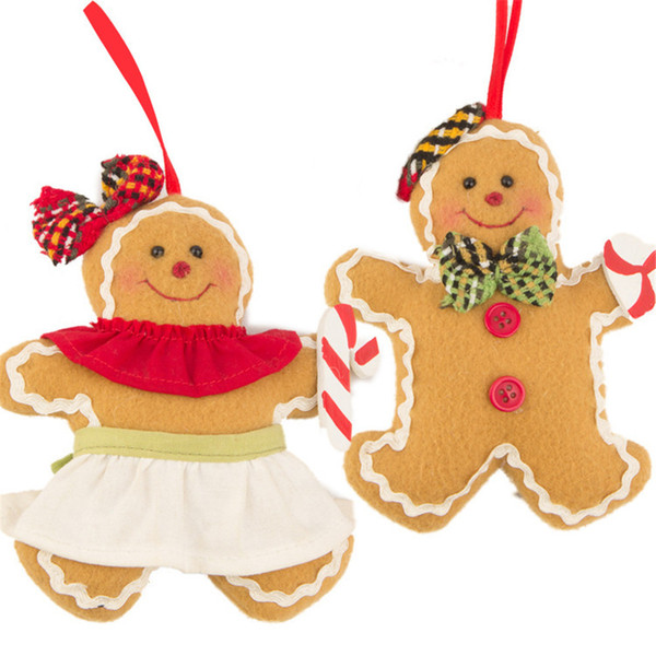 Christmas Tree Ornament Gingerbread Man Ornaments Doll Xmas Hanging Pendant Decorations For home New Year Gift