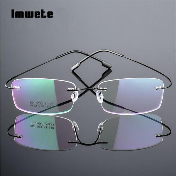 Imwete Titan Brillen Rahmen Randlose Flexible Optische Rahmen Verschreibungspflichtigen Brillen Rahmenlose Brillen Brillen