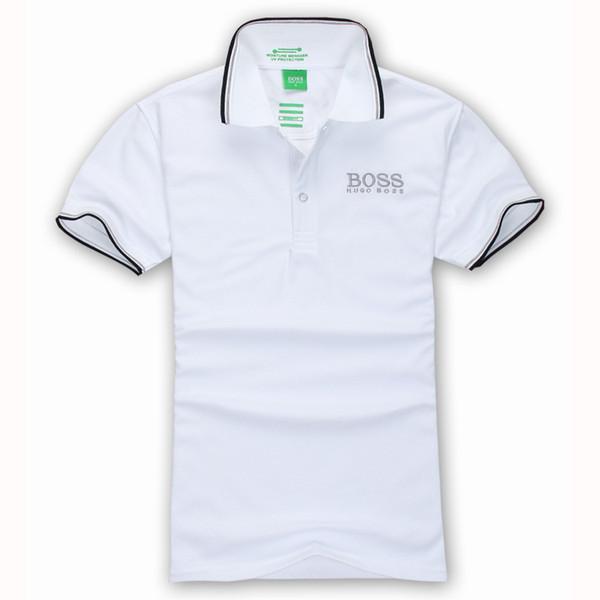 2018 New Men's I short sleeves polo shirt 6519 BOS T-shirt Embroidery Polo Shirt For Men luxury Polo Men Cotton Short Sleeve shirt