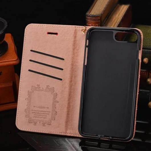Luxury Y Printting Wallet Phone Case for iPhone X 8 Smartphone Paris Show Cover for iPhone 7 6 6S Housing