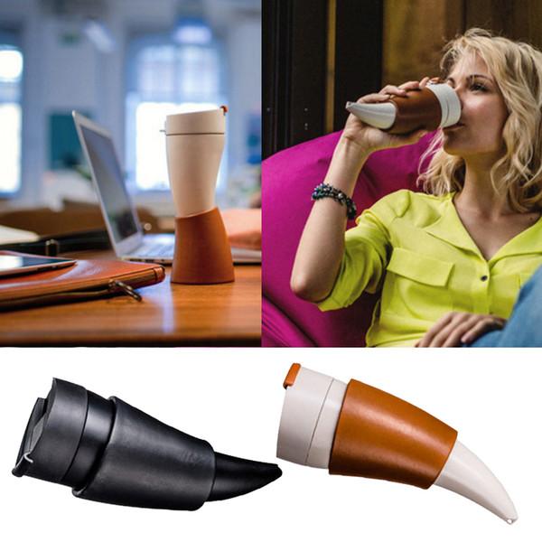 Cuerno de cabra en forma de taza de café 230 ML aislamiento termo taza termo frasco Drinkware botella de agua taza de viaje