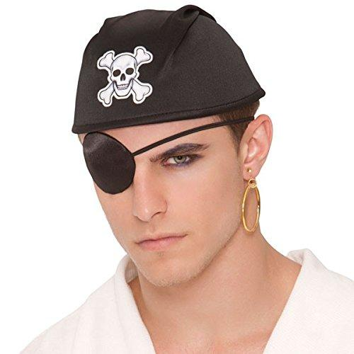 eye patch pirate, Notorious Pirate Party Silk Eye Patch Accessory, One Size, Black