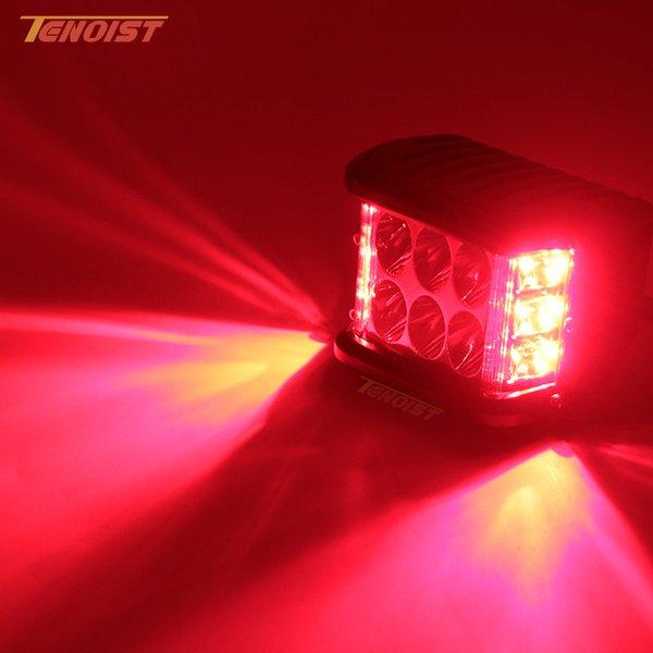 Three In One 4 Inch LED White Red Brake Warning Flash Work Light For  Wrangler Offroad Motorcycle SUV 4*4 ATV UTV BUS 12V 24V Auto Work Lights