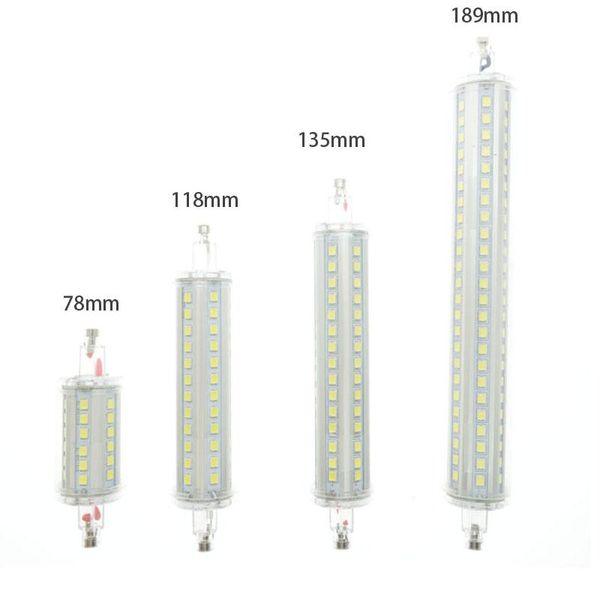 Lamparas R7S LED Corn 78mm 118mm 135mm 189mm Light 2835 SMD Lampadina AC85-265V 7W 15W 20W 25W Lampadina Sostituire proiettore alogeno