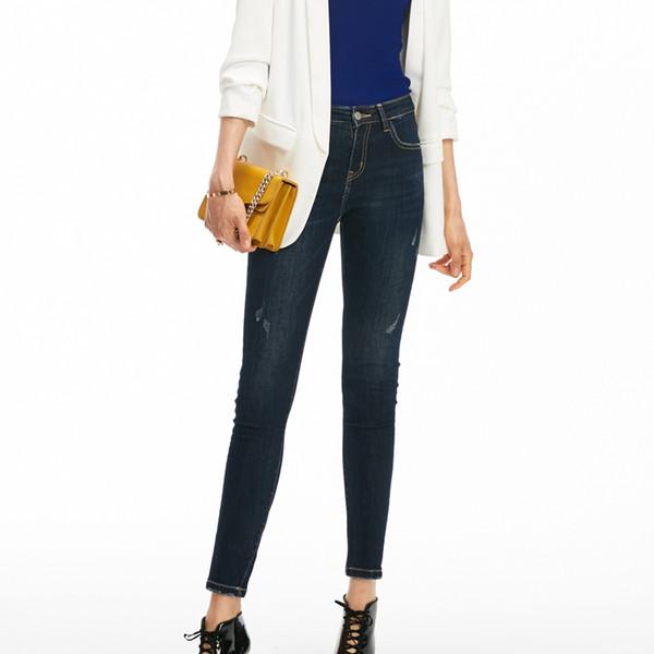 2018 autumn jeans woman casual denim pants elasticity womens clothing high waist jeans pencil pants women