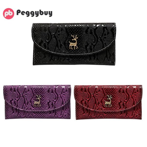 2017 New Fashion Soft PU Leather Women Long Purse Embossing Female Wallet