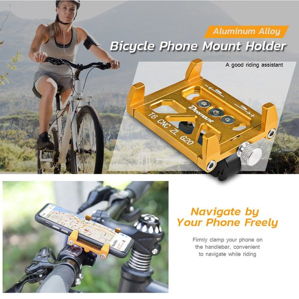 Deemount Universal Aluminum Alloy Bicycle Mobile Phone Holder For Bicycle Motorcycle Handlebar Mount Holder Bike Accessories