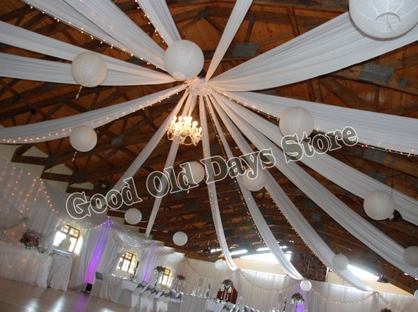2019 16m X 0 7m White Ceiling Drape Canopy Drapery Wedding Party Ceiling Decoration Wedding Banquet Party Decoration From Meinuo005 363 96