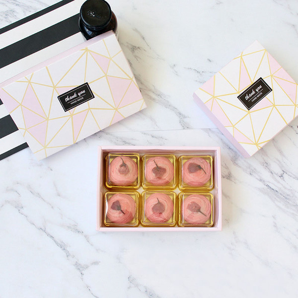 Diamond Pattern Design Cheese Chocolate Paper Box Wedding Party Cookies Box Gift Box Free Shipping lin4311