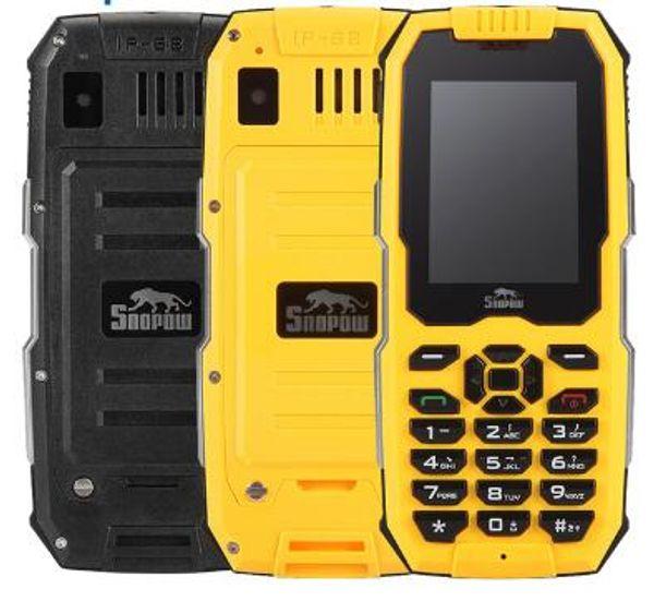 Snopow M2 IP68 Waterproof Shockproof Outdoor Mobile Phone Dustproof Shockproof Loud Speaker 2500mAh Unlocked Cell Phones 2G Rugged Phone