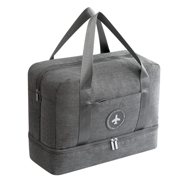 Waterproof Duffle Bags >> Lhlysgs Brand Dry And Wet Separation Travel Bag Women Large Capacity Waterproof Duffle Bag With Shoe Fashion Luggage Mens Shoulder Bags Fashion Bags