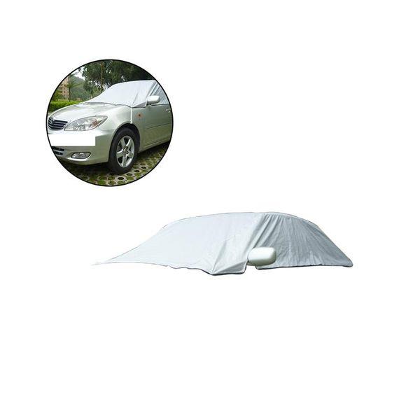 VORCOOL Universal Half Car Snow Ice impermeable Sun UV Rain Shade Cover protector exterior para 5 Seat Cars
