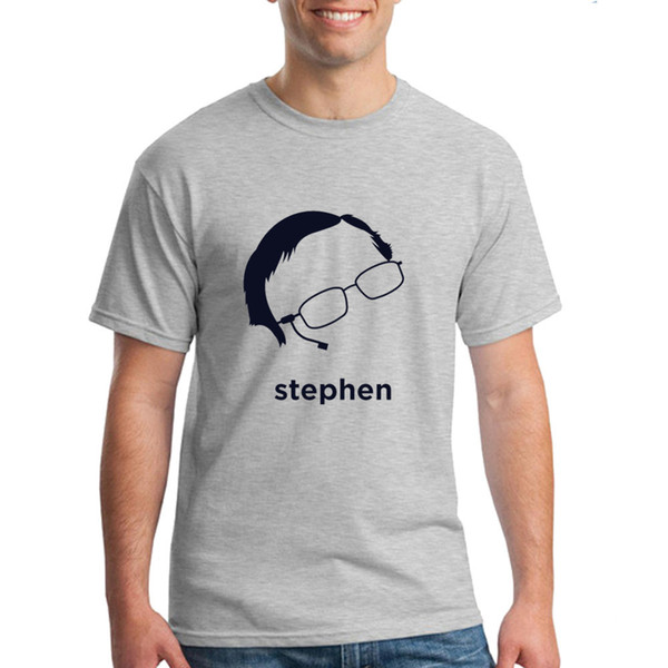 Stephen Hawking Hirsute History Cool Shirts For Guys Short Sleeve T Shirts Made Men Interesting T Shirt Designs