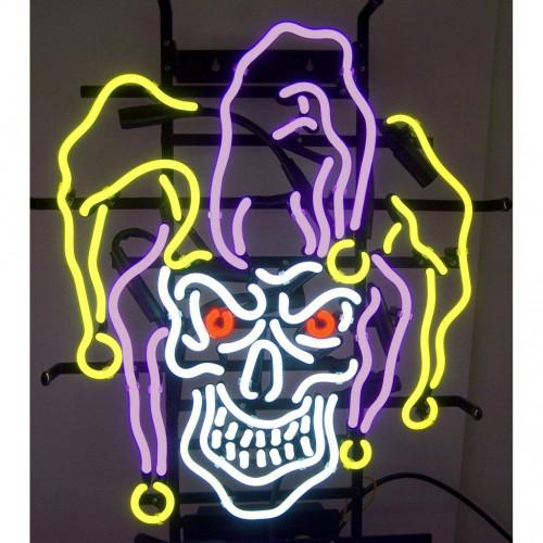 Neon Signs Gift Jester Skull Magic Art Beer Bar Pub Store Party Room Wall Decor 24x20