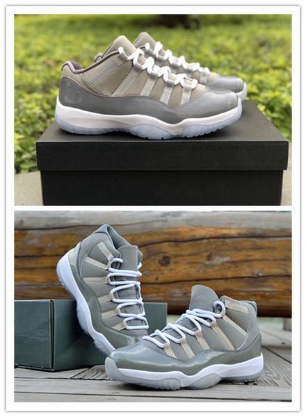 Yeni 11 Serin Gri düşük XI erkekler basketbol ayakkabı 11 s yüksek beyaz eğitmenler spor sneakers açık EN kaliteli TOPTAN boyutu 8-13