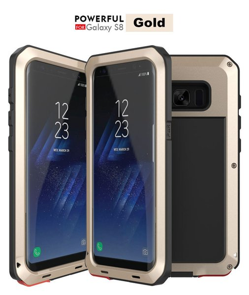 Waterproof Armor Defender Metal Case dirtyproof Shockproof Aluminum Silicone Cover for Iphone X 7/8 Samsung S8 Plus Note 8 S6 S7 Edge