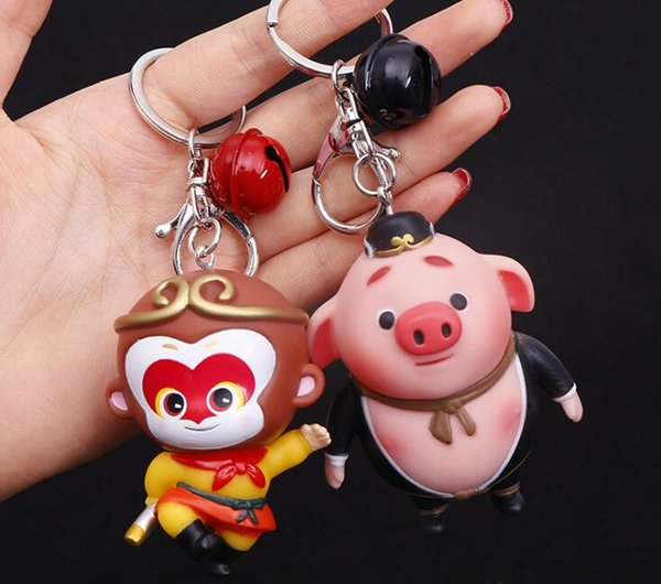New cute pig Key Chain Accessories Chinese elements Key Ring pig monkey Pendant Car Keychain Holder Jewelry Gift Bag Charms Accessories Hot
