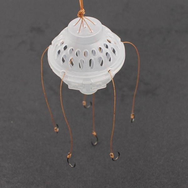 6 in 1 Lantern Bait Case Pecsa Hooks Barbed Explosion Winter Carp Fishing Lure China Jig Feeder Spoon Hook Fly Fishing Tackle Y18100906
