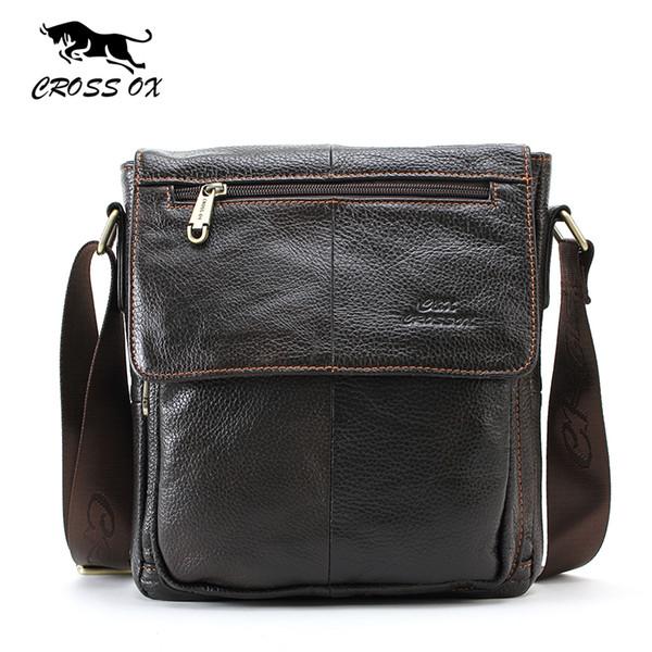 Крест OX натуральная кожа сумки для мужчин мода сумка для бизнеса повседневная портфель сумки мужская сумка SL232M