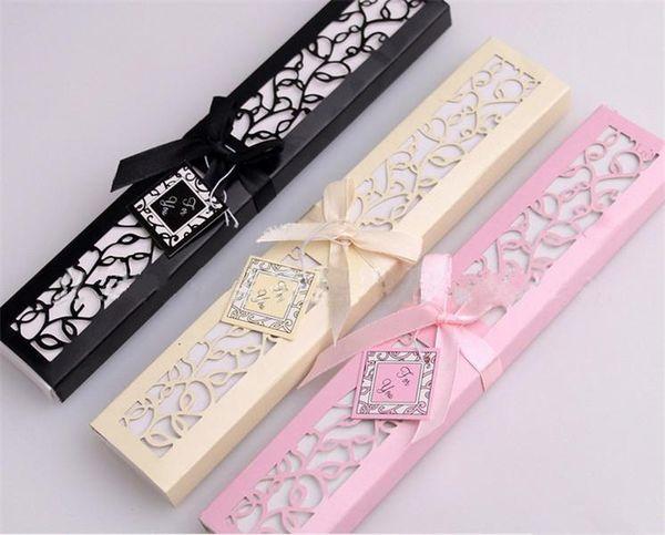 2019 All'ingrosso Rosa Beige Nero Colore Mani Fan Logo su costolette in legno mano di bambù da sposa Fan + confezione regalo arte e artigianato vendita a buon mercato