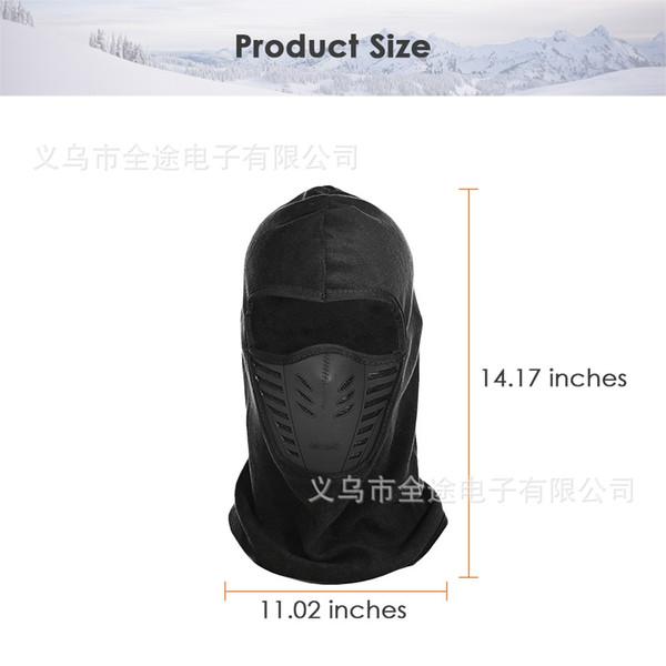 2018 antipoussière vélo visage masque coupe-vent hiver chaud polaire vélo foulard complet visage foulard masque cou vélo vélo de snowboard