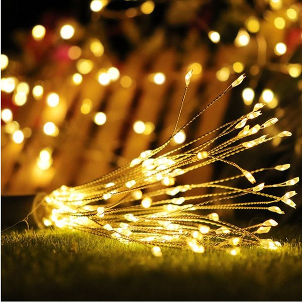 Christmas Light Remote Controls.150 120 100leds Hanging Starburst Fairy Lights Battery Led Fireworks Copper Wire String Light Remote Control Holiday Night Light Led String Light