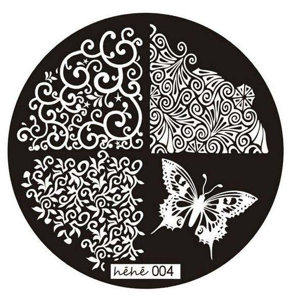 Menow 2018 Nouveau Nail Art Stamp image Plaques Stamping manucure modèle 004 pour les femmes Beauté Freeshipping 5p929