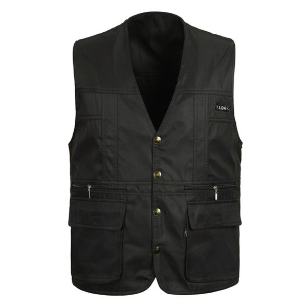 Classic Thin Sleeveless Men Jacket With Many Pockets Summer Casual Photographer Reporter Multi Pocket Vest For Male Waistcoat