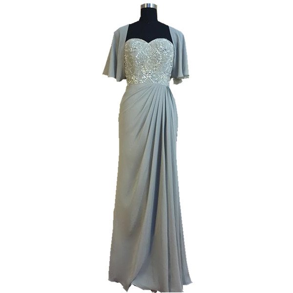 2018 Ghands Chiffon JJShouse A-line Beading Tow piece of Suit Floor-Length Formal Gowns Wedding Guest Mother of The Bride Dresses Customize