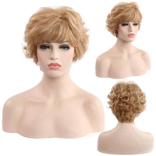 Cosplay Party Lady Girl Bob Perücke Frauen kurze gerade Bangs volle Haar Perücken