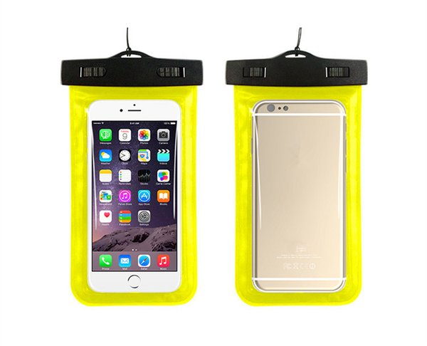 100% Sealed Waterproof Bag Pouch Phone Case For Mobile Water Proof Underwater Case Bag for 6 5S 6S Plus S7 Swimming