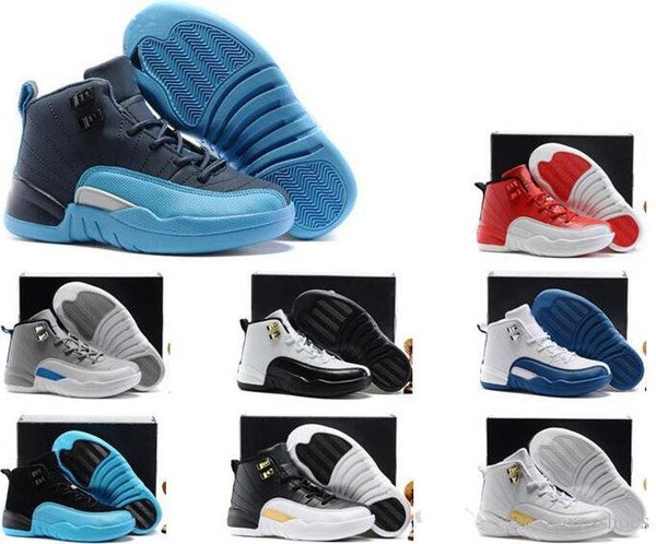 Children's 12 12s Basketball Shoes Kids Athletic Sports Shoes for Boy Girls Shoes Free Shipping size:28-35
