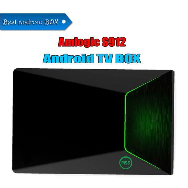 2018 Best quality M9S Z9 TV Box Updated Android 7.1 Amlogic S912 Octa-Core 2GB+16GB Dual WiFi IPTV Smart TV 4K Medium Player
