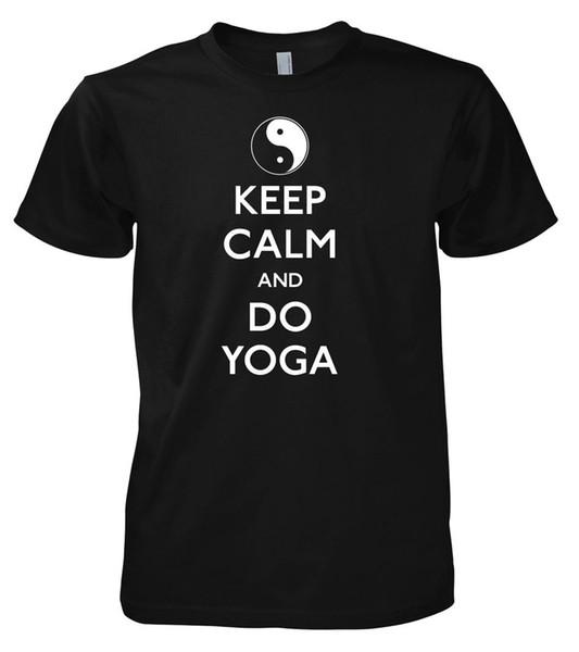 Divertido Keep Calm Do Yoga camiseta