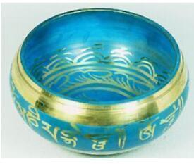 Budismo tibetano coleccionables bastante budista cuenco tibetano antiguo real plata tibetana China wholesale factory Bronze Arts