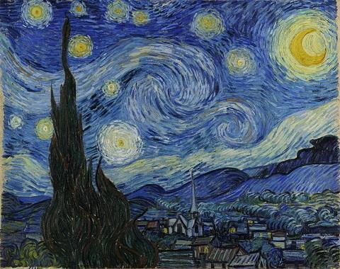 Vincent Van Gogh Starry Night Giclee Free Shipping,Hand-painted Landscape Art oil painting On Canvas Home Decor Wall Art Multi sizes l99
