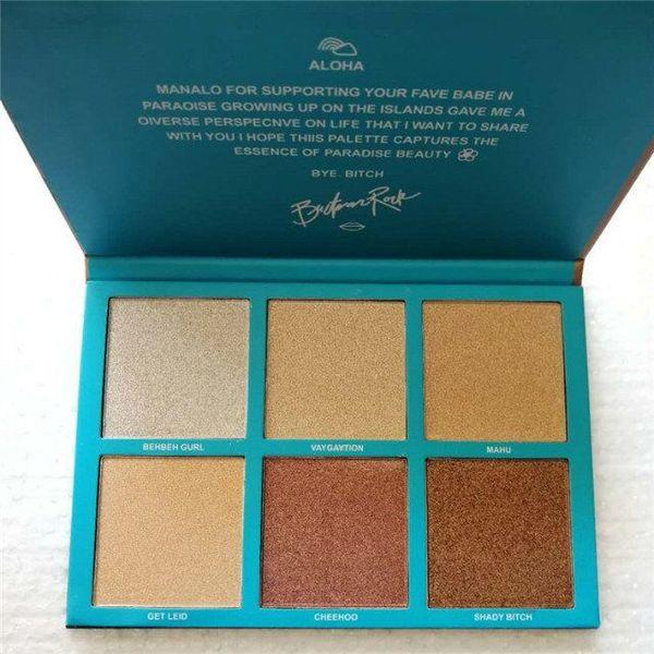 Top Qualität zum besten Preis! Face Highlighter 6 Farben Babe IN Paradise Bronzers Textmarker leicht zu tragen und langlebig, DHL-frei