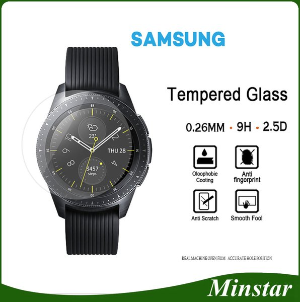 Tempered Glass For Samsung Smart Watch Active 42mm 46mm Gear Sport Classic S2 S3 S4 For Fitbit Versa Blaze Surge Screen Protector