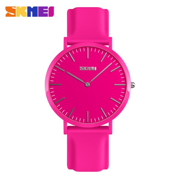 Skmei Quartz Men Women Watch Simple Vintage Waterproof Silicone Casual Couple Lovers Watches Business Male Relogio Masculino