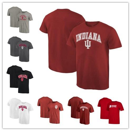 Mens Indiana Hoosiers Fanatics Branded Custom Sport Wordmark Campus T-Shirt red black white grey size S-XXXL free shipping
