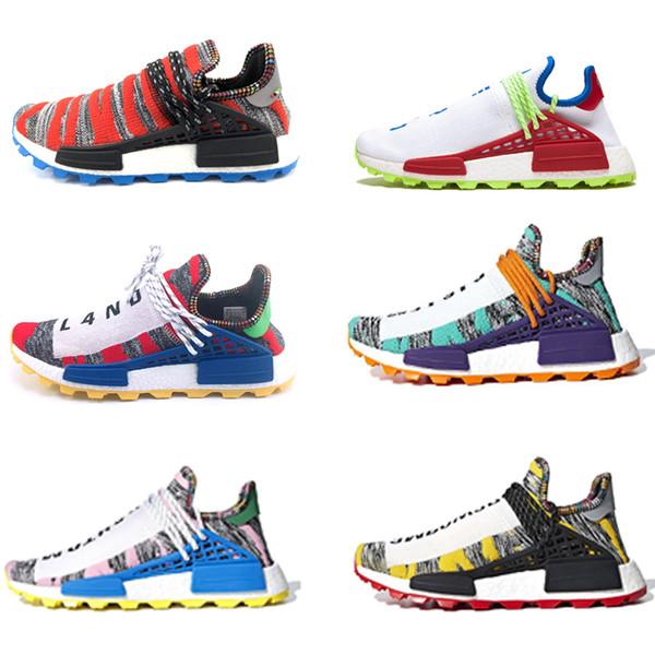 Cheap Sale NMD Human Race NERD Homecoming Afro Hu Solar Pack Men Running Shoes Pharrell Williams HU Trainers Men Sports Sneaker Zapatos Shoe Men Shoes