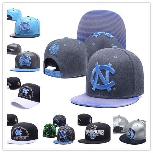 NCAA College North Carolina Tar Heels Caps 2018 New Adjustable Snapback All University Light Blue White UNC Hot Sale Hats Free Shopping