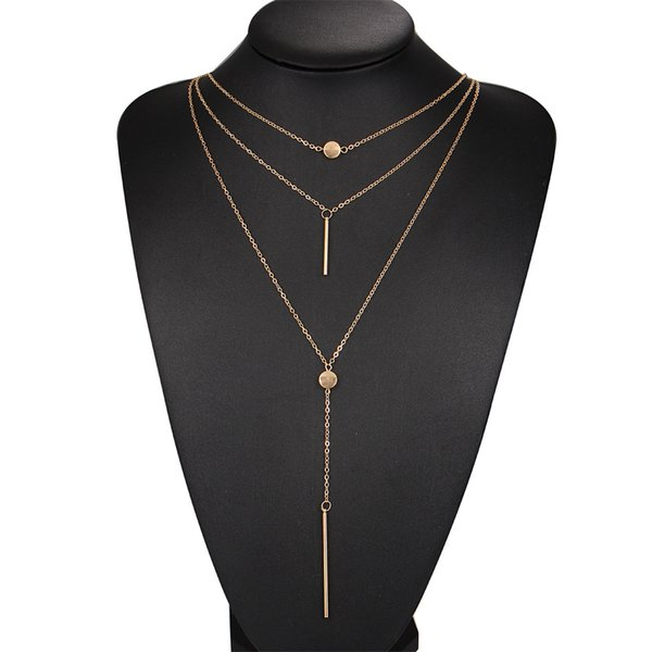 Bohemian Multilayer Choker Necklace Women Tassel Chain Necklaces Pendants For Women Chunky Necklaces Jewelry Collares
